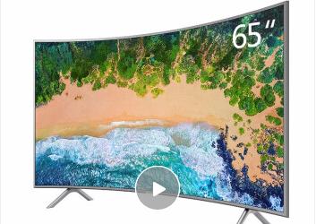 三星(SAMSUNG) UA65NU7300JXXZ65英寸大屏4K超高清智能曲面 HDR液晶电视机