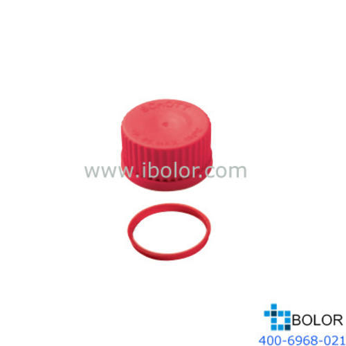 Schott 紅色蓋子 PTFE材質 180℃,GL32 Schott/肖特