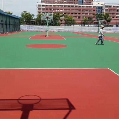 硅PU球场翻新施工