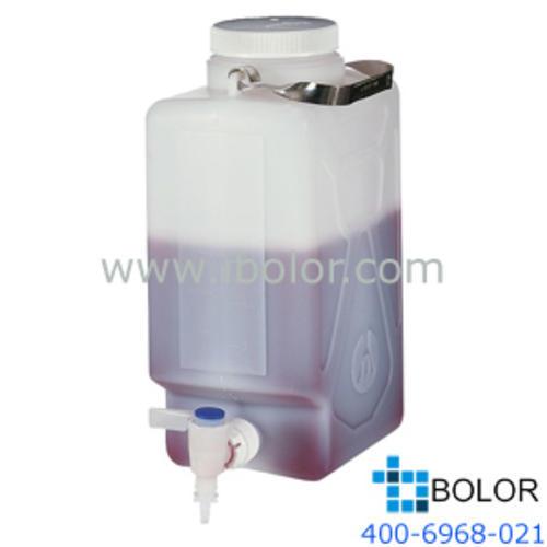 Nalgene氟化矩形细口大瓶(带放水口),DS2327-0020 容量10L HDPE材质