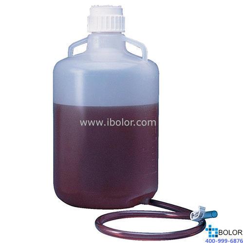 Nalgene可高溫高壓滅菌的細口大瓶,2301-0050 容量20L PP材質 帶排水小管 NALGENE