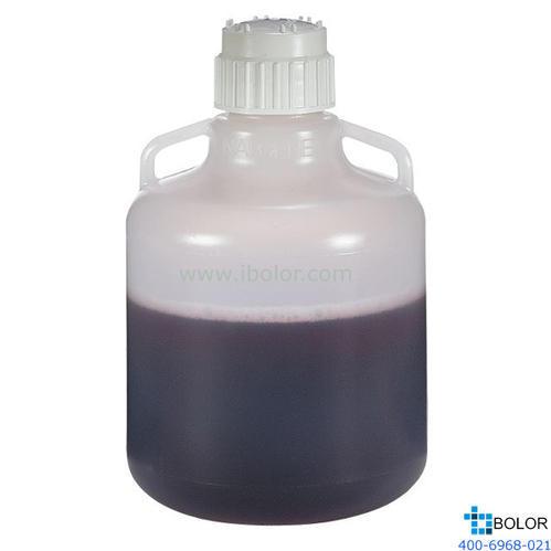 Nalgene帶手柄的細口大瓶,8250-0020(2250-0020) 容量10L PP材質 NALGENE/耐潔