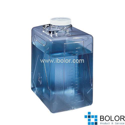 Nalgene矩形细口大瓶(带方水口),2322-0020 容量10L PC材质 NALGENE