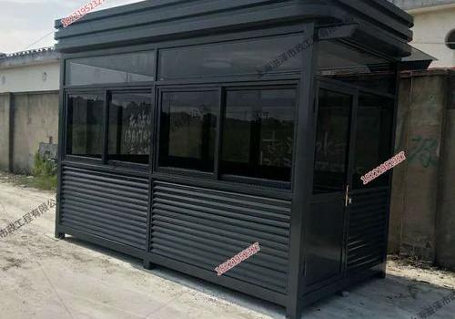 杭州厂区4米*2米*3米钢结构吸烟亭安装完成
