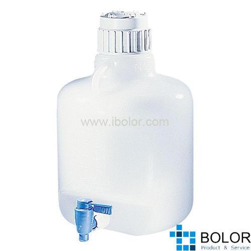 Nalgene细口大瓶(带放水口),2318-0010 (8318-0010) 容量4L LDPE材质 NALGENE/耐洁