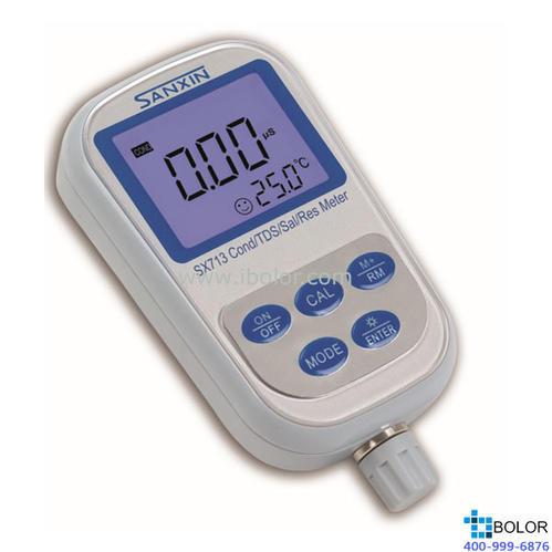 SX713-02便攜式電導/電阻率/TDS/鹽度測定儀 100組數據存儲 0.01~200uS/cm~~200mS/cm