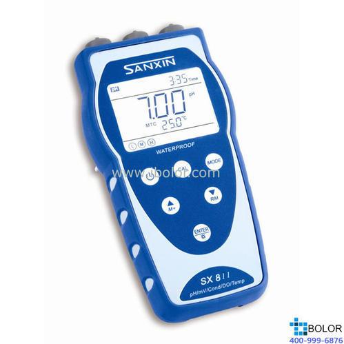 SX813便攜式電導率儀 電導測定儀 手持式電導儀 便攜式EC計 SANXIN/三信,可以實現連續測量,自動記錄數據