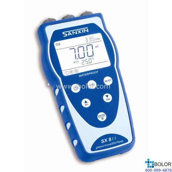 SX816便携式溶解氧测定仪 携带式溶氧仪 手持式溶氧仪 便携式DO仪 SANXIN/三信,可以实现连续测量,自动记录数据