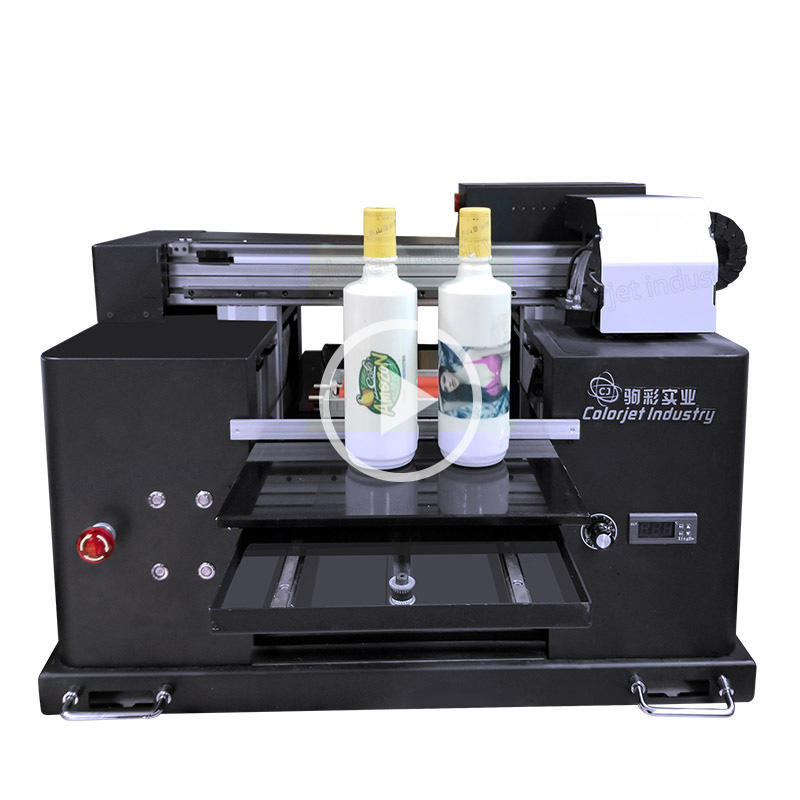 Hot sale color jet A3 uv printer for bottle
