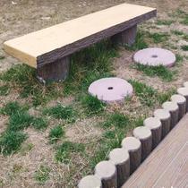 混凝土系列仿木座椅