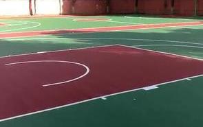 学校运动场地硅PU球场施工前期路面基础地基终压实操