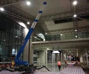 梯诺机械蜘蛛车第三年服务于中国高铁施工