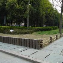 园林护栏仿木桩混凝土仿木桩