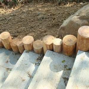 園林仿木樁  沿路混凝土小規格仿木樁上海廠家直銷