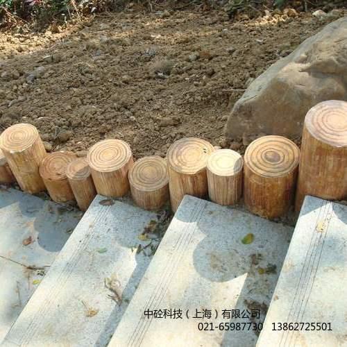 园林仿木桩  沿路混凝土小规格仿木桩上海厂家直销