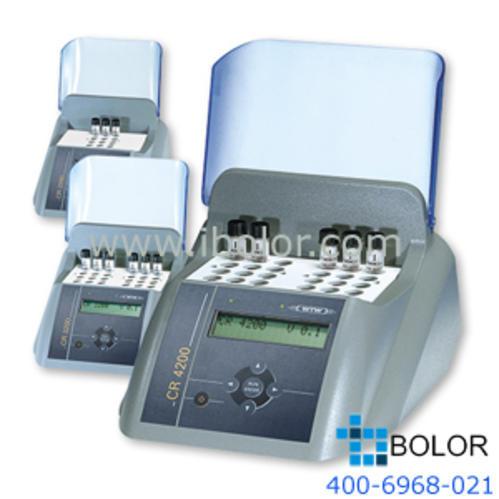 CR4200 COD消解儀 2組×12共24個16mm加熱孔,兩組加熱孔可設定不同的加熱程序分別進行