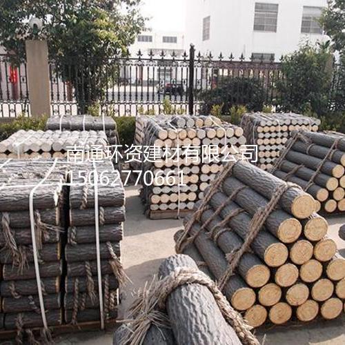 河道护栏 预应力仿木桩南通厂家供应