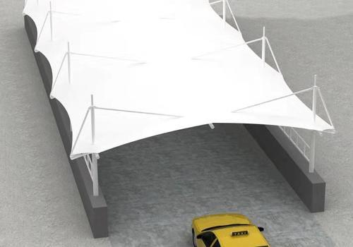 PTFE建筑膜材 廣泛應用于展覽中心停車棚
