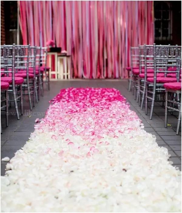 结婚灵感の婚礼路引怎么布置?精选30个案例给你参考