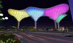 PTFE建筑膜材 广泛应用于景观亭蓬