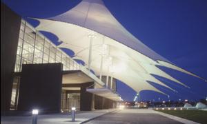 PTFE建筑膜材 广泛应用于机场大厅