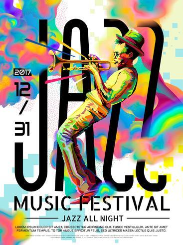 爵士乐通宵海报 Jazz all night poster__S0100008SSK