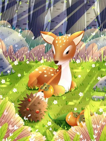 治愈系森林与鹿 The cure is forests and deer__I0301008QTW