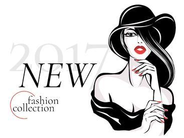黑白新款时装系列广告 Black and white new fashion collection advertisement