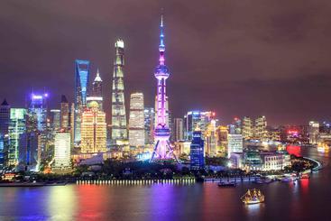 中国 上海 外滩 The bund in Shanghai China