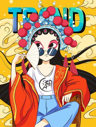 京剧潮流插画 Lllustration of Peking Opera trend__I0101002QTW
