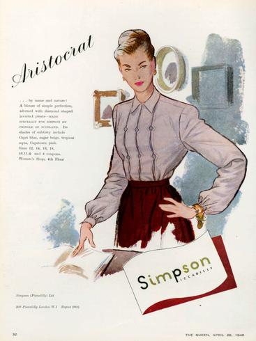 1940s UK Simpson of Piccadilly Magazine Advert__V0100028GPN