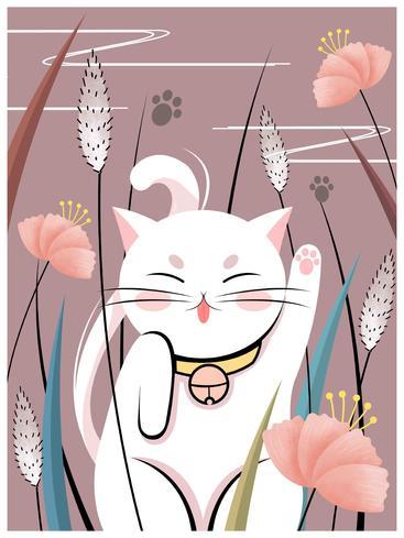 花草中的猫 Cat in the grass__I0301003QTW