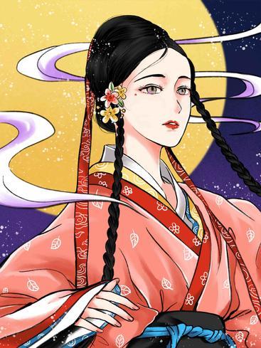 中国风古装女孩 Chinese style costume girl__I0101005QTW