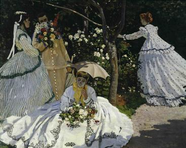 莫奈《花园里的女人》Monet Women in a Garden__W0300005GPN