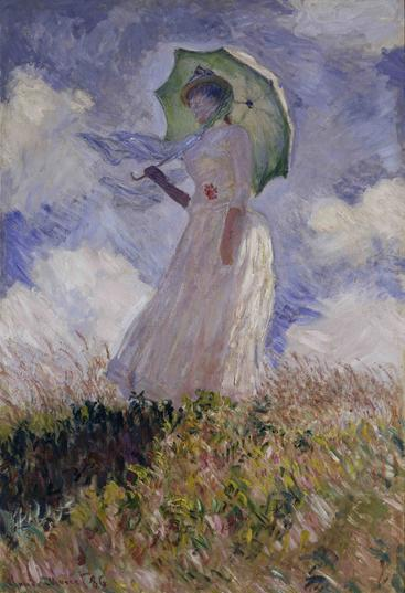 莫奈《撑伞的女人》Monet Woman with Umbrella__W0300006GPN