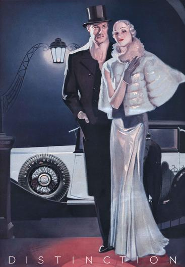 1930s UK Dunlop tyres mens womens evening wear men__V0100023GPN