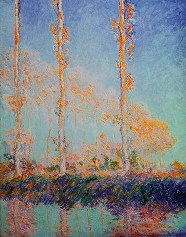 莫奈《三个杨树》Monet Three Poplars__W0300007GPN