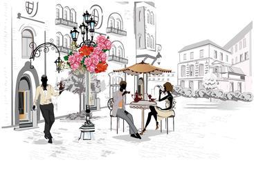 街头咖啡馆 Street Cafes__S0100002SSK