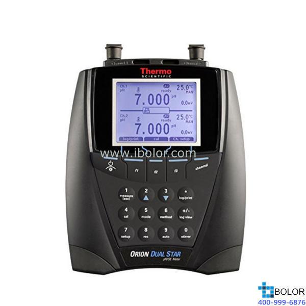 Orion™ Dual Star™ pH 值、ISE、mV、ORP 和温度双通道台式测量仪 2115000
