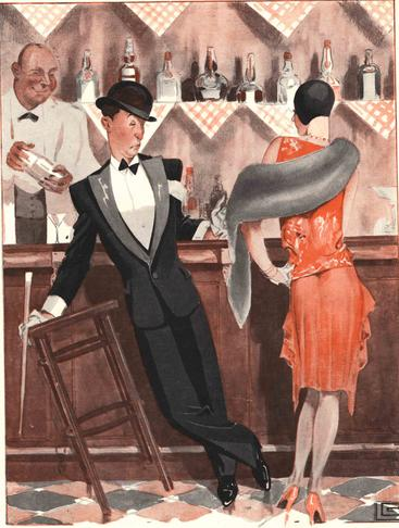 1920s France Le Sourire bars cocktails magazines __V0100026GPN