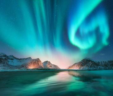 罗弗敦群岛 极光 Aurora Lofoten Islands