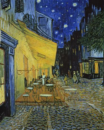 梵高《夜晚的露天咖啡馆》Van Gogh Cafe Terrace at Night__W0200003GPN