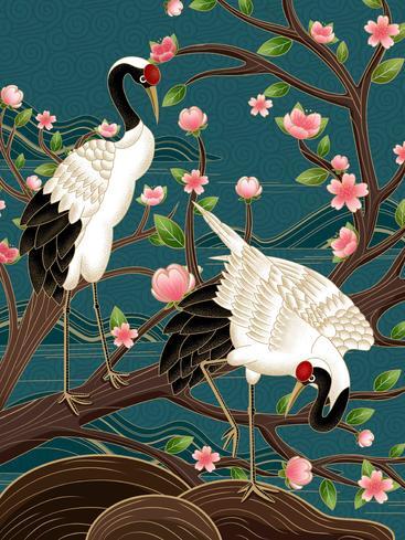 中国风丹顶鹤 Chinese red-crowned crane__I0101016QTW