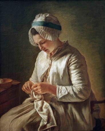 迪帕克《做针线活的年轻妇女》Young woman doing needlework Duparc__W0401012GPN