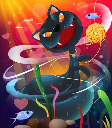 萌宠小动物插画 Cute animal illustrations__I0301010QTW