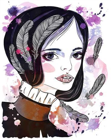 女孩画像 Girl portrait__S0100013SSK