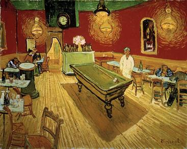 梵高《夜咖啡馆》Van Gogh The Night Café__W0200005GPN