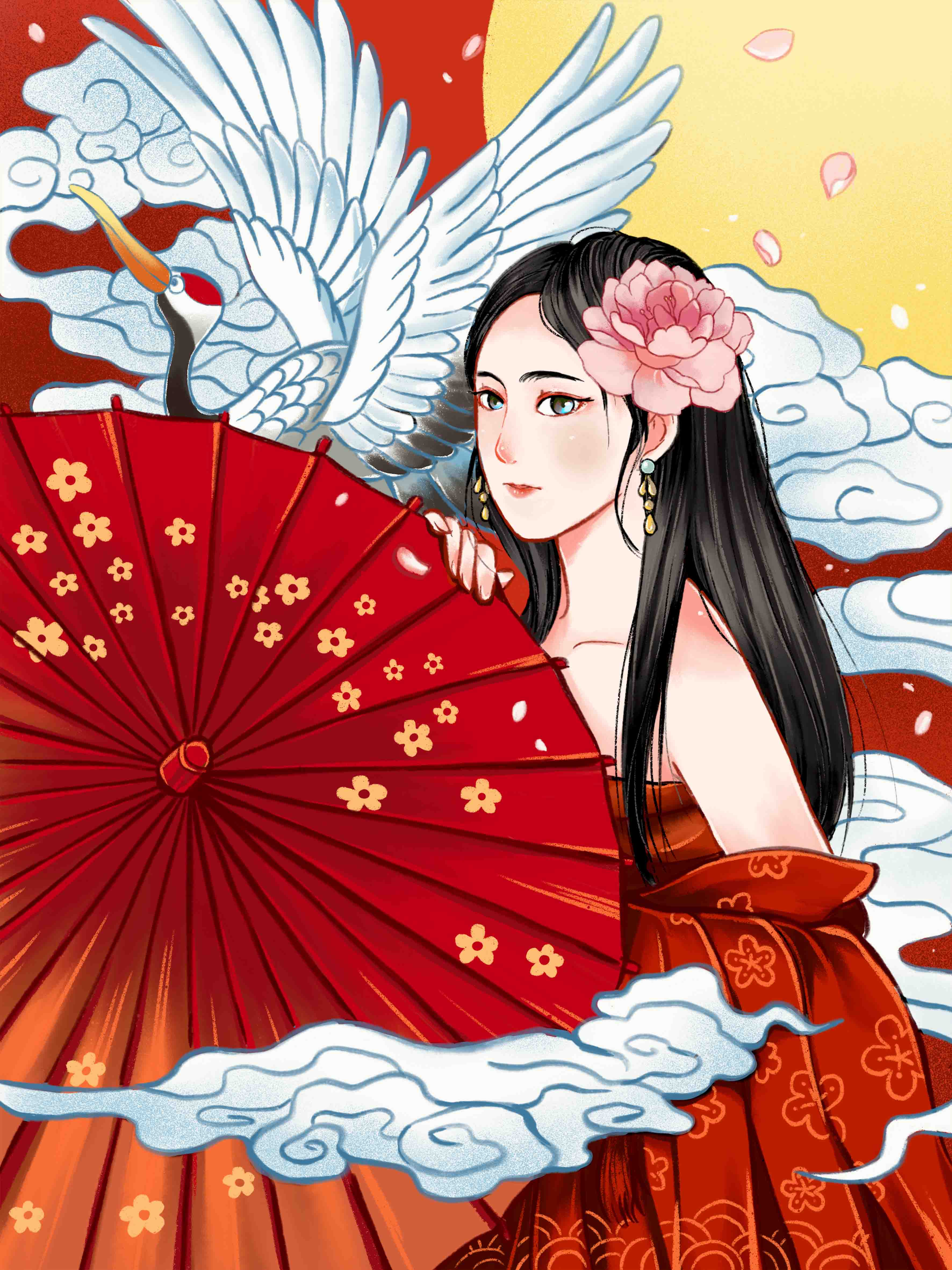 I0101024QTW原创手绘插画国潮汉服雨伞仙鹤女孩.jpg