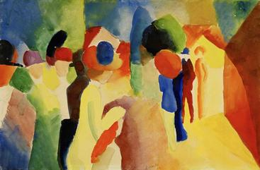 奥古斯都马克《身穿黄夹克》With a Yellow Jacket August Macke__W1201034GPN