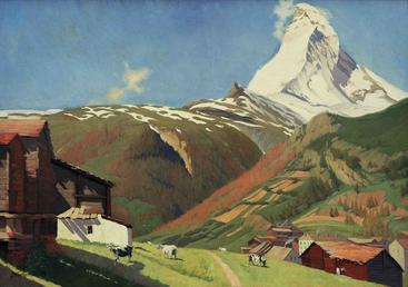 瓦洛东《策马特的视角》View of Zermatt Vallotton__W0501001GPN